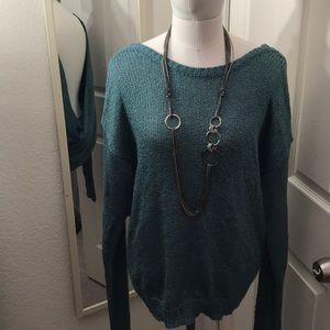 Cross back knit sweater